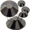 Alora Flatback Rhinestones 12ss Jet Hematite