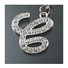"Rhinestone Initial Key Chain ""C"""