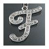 "Rhinestone Initial Key Chain ""F"""