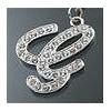 "Rhinestone Initial Key Chain ""G"""