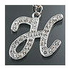 "Rhinestone Initial Key Chain ""H"""