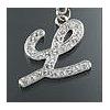"Rhinestone Initial Key Chain ""L"""