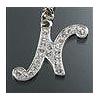 """Rhinestone Initial Key Chain """"N"""""""