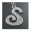 "Rhinestone Initial Key Chain ""S"""