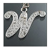 "Rhinestone Initial Key Chain ""W"""