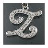 """Rhinestone Initial Key Chain """"Z"""""""