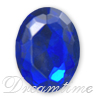 Lead Free Acrylic Fancy Oval Rhinestones