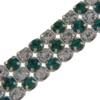 Crystal/Emerald Alternating 3 rows