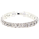 Large Accent Tennis Bracelet, Crystal/Silver