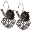 Empty Filigree Earrings Silver Ox 10mm Swarovski 4470