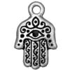 TIERRACAST® Antique Silver Plated Hamsa Hand Charm