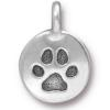 TIERRACAST® Antique Silver Plated Paw Charm