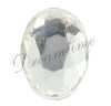 German Flatback Oval Rhinestones 8mm x 6mm