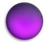 Lunasoft Lucite Cabochons Round 24mm Grape