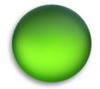 Lunasoft Lucite Cabochons Round 18mm Lime