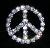 1&quot; Peace Sign Buckle Rhinestone Buckle