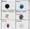 Iron on Metals Color Chart