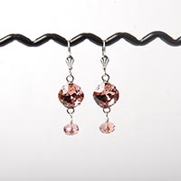 Blush Rose Fancy Stone Earrings
