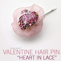 Valentine Hair Pin