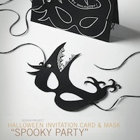Halloween Invitation and Mask
