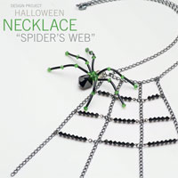Halloween Spider Web Necklace