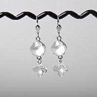 Powder Grey Fancy Stone Earrings