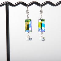 Baguette Fancy Stone Earrings
