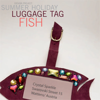 Summer Holidays Luggage Tag