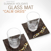 Summer Holidays Glass Mat