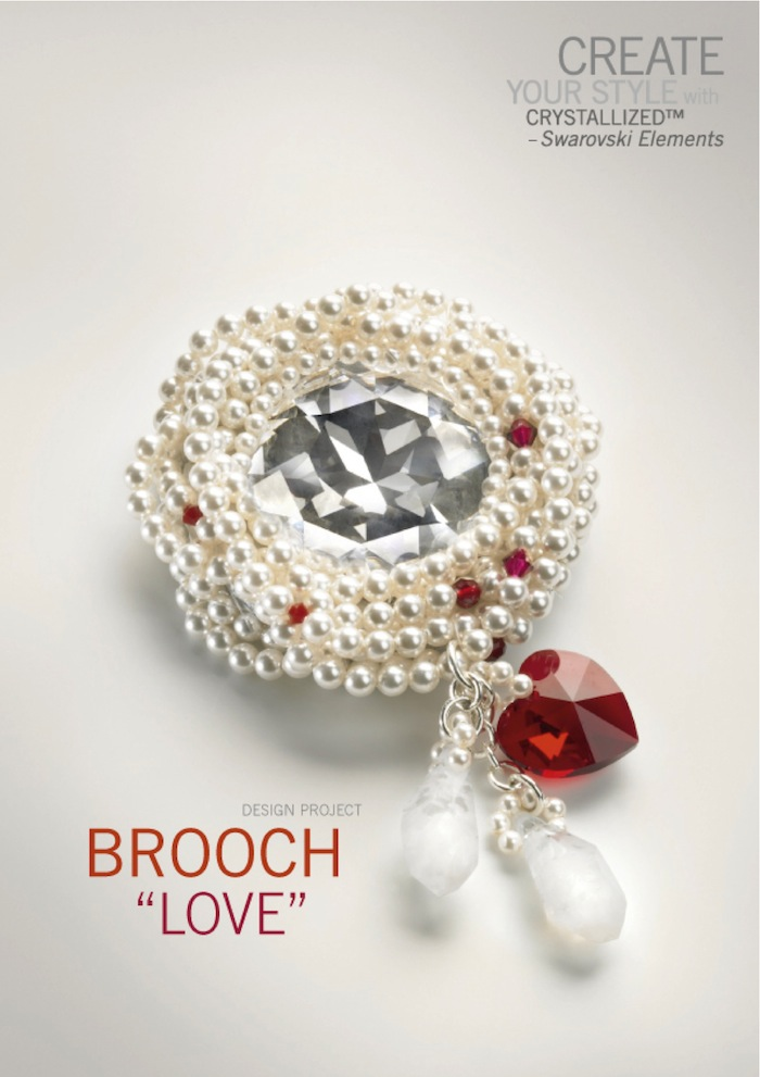 Brooch: Love by SWAROVSKI