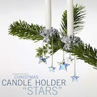 Christmas Candle Holder Stars
