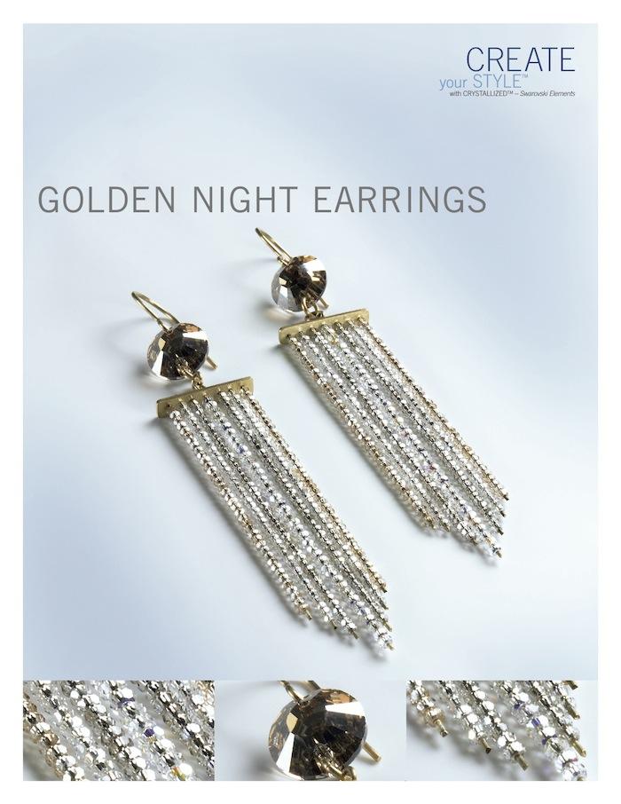 Golden Earrings by SWAROVSKI™