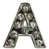 14mm Rhinestone Letter Charms with 8mm Holes