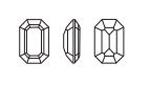Swarovski 4610 Rectangle Octagon Fancy Stone Black Diamond 18x13mm