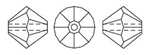 Swarovski 5301 Bicone Bead Olivine Satin 4mm