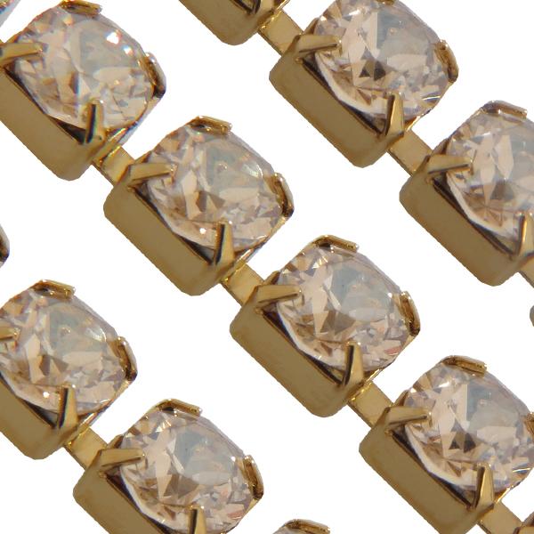 Swarovski 27104 Rhinestone Chain ss29 Crystal Golden Shadow/Gold Plated