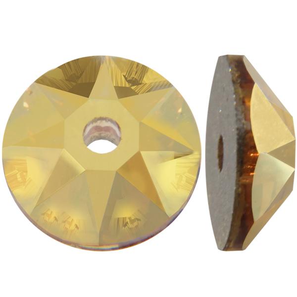 Swarovski 3188 Xirius Lochrose Crystal Metallic Sunshine 4mm