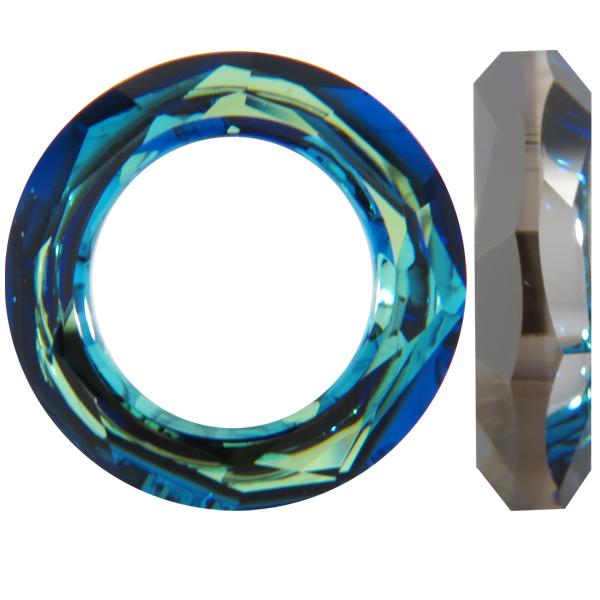Swarovski 4139 Cosmic Ring Fancy Stone Crystal Bermuda Blue 20mm Dreamtime Creations