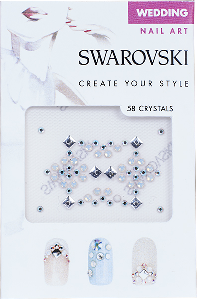 Swarovski Nail Art Crystal Transfers - Wedding Set 1