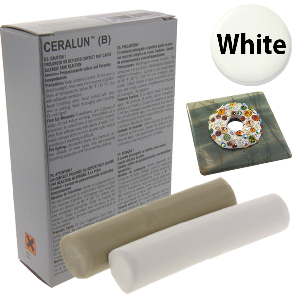 ceralun two part epoxy clay by swarovski white 100 gram package