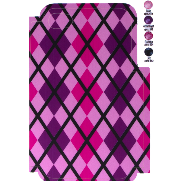 Rhinestone cell phone case dreamtime creations argyle template for phone case for iphone 44s for use with flat backs pronofoot35fo Gallery