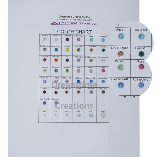 spark color chart dreamtime creations