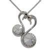 "16"" Necklace featuring swans with 1122 rivoli crystal from Swarovski"