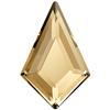Swarovski 2771 Kite Flat Back Crystal Golden Shadow 12.9x8.3mm