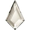 Swarovski 2771 Kite Flat Back Crystal Silver Shade 12.9x8.3mm