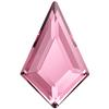 Swarovski 2771 Kite Flat Back Light Rose 12.9x8.3mm