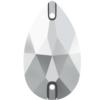 Swarovski 3230 Drop Sew-on Crystal Light Chrome 12x7mm