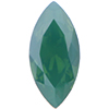 Swarovski 4231 Antique Navette Palace Green Opal 10x5mm