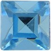 Swarovski 4400 Square Vintage Fancy Stone Aquamarine 10mm