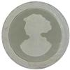 German Cameo Round Lady's Head Intaglio 36mm Black Diamond